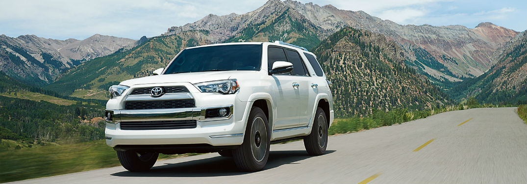 2018 toyota 4runner driving on a mountain road