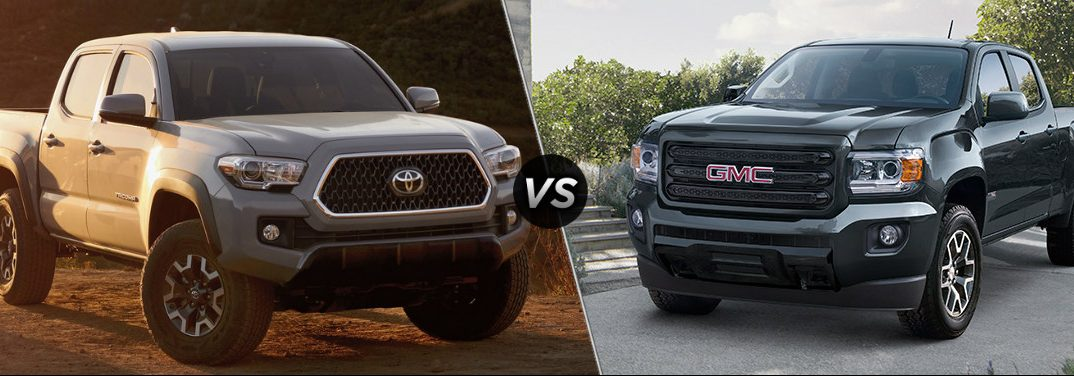 Which is better: the 2019 Toyota Tacoma or GMC Canyon?