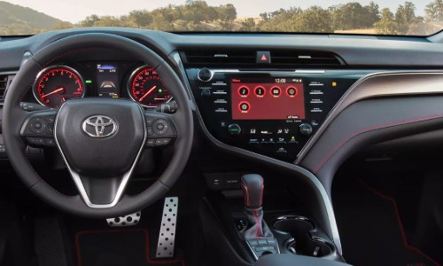 Dashboard of the 2020 Toyota Camry TRD