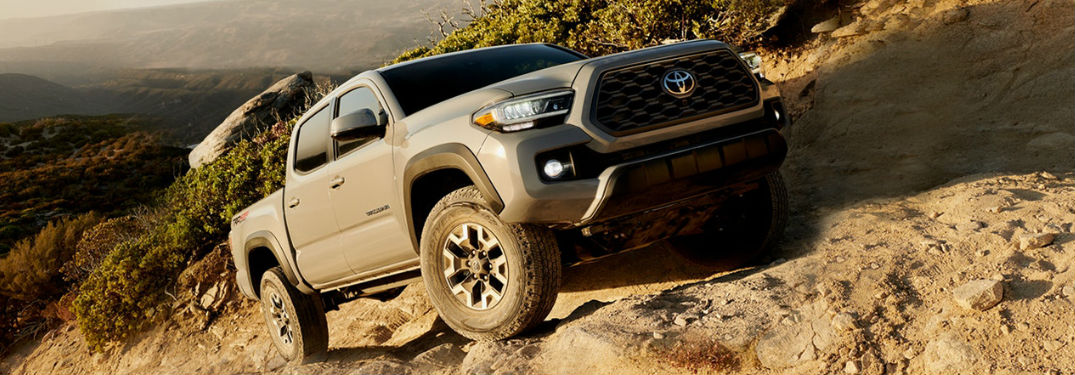 2020 Toyota Tacoma driving off-road