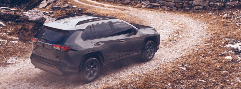 2020 Toyota RAV4 TRD Off-Road driving on a dirt road