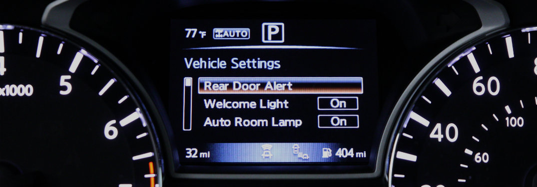 What is the Nissan Rear Door Alert System