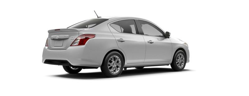 the 2018 nissan Versa sedan in silver on a white background