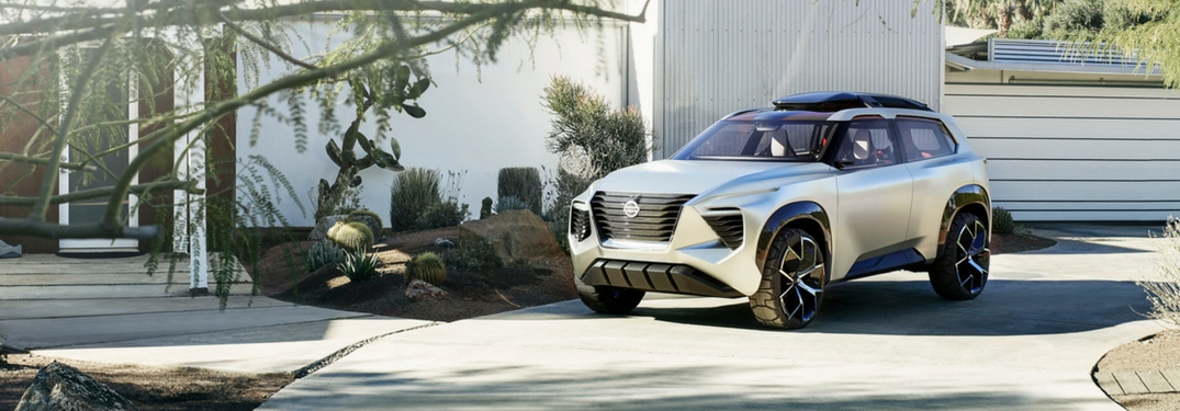Nissan Xmotion Concept SUV parked in a driveway