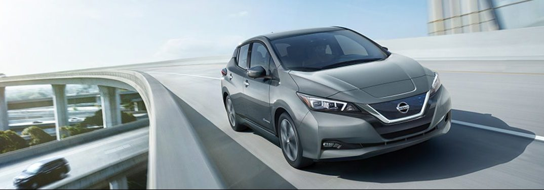 exterior front of the 2018 Nissan LEAF