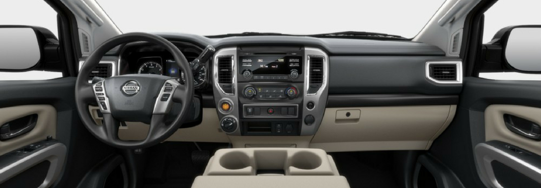 interior front of the 2018 Nissan Titan