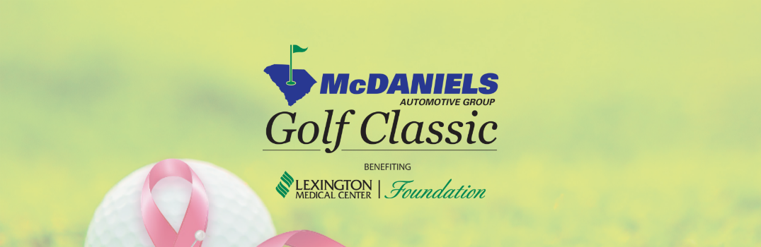 banner for McDaniels charity golf event