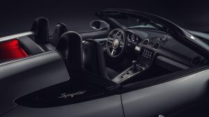 2019 Porsche 718 Spyder with top down
