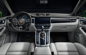front interior of the 2020 Porsche Macan Turbo