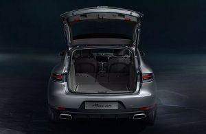 2020 Porsche Macan with rear hatch open