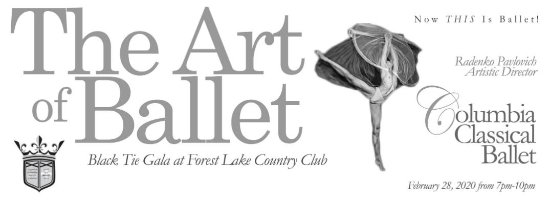 banner for the Art of Ballet event