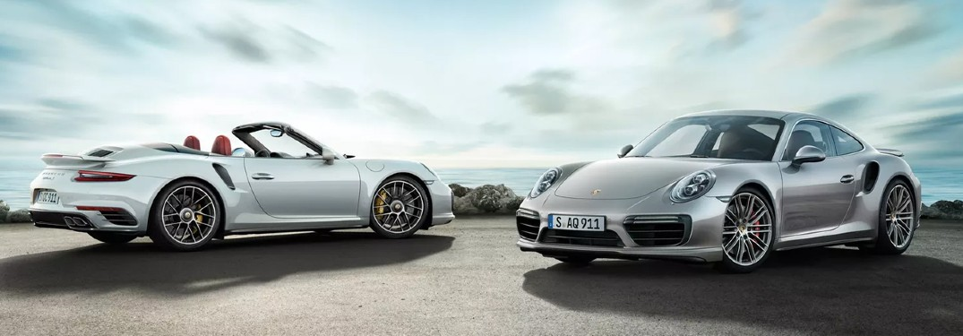 2020 Porsche 911 Turbo vehicles side by side