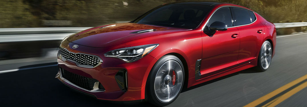 2018 Kia Stinger driving on a road