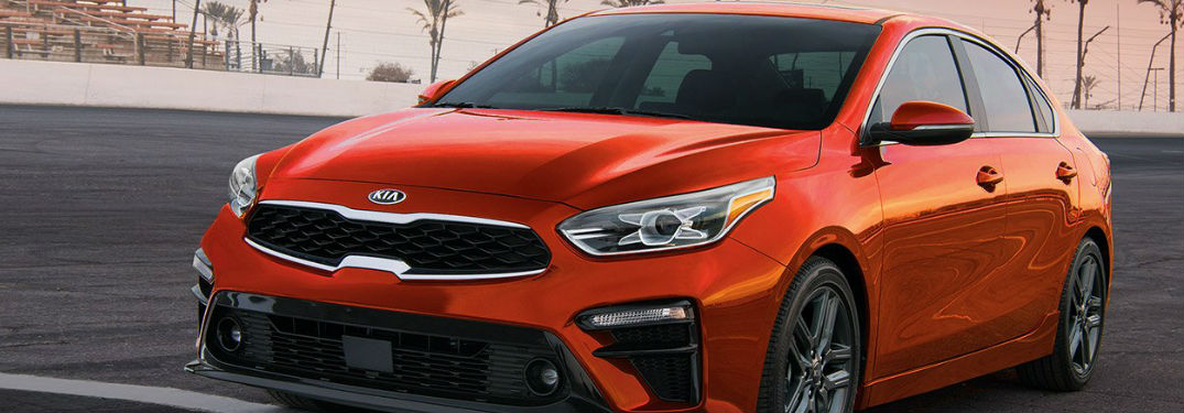 2019 Kia Forte driving on a road
