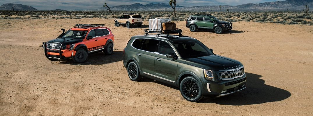 2020 Kia Telluride in Several Paint Colors