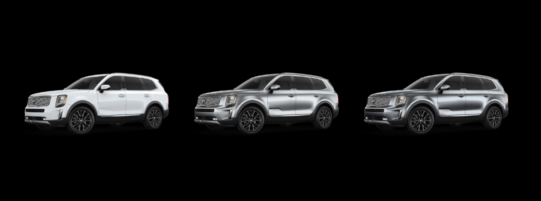 2020 Kia Telluride in White, Silver, and Gray Paint Colors