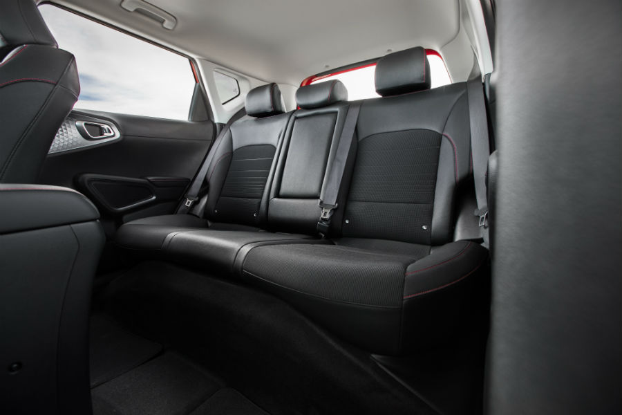 A photo of the rear seats in the 2020 Soul.