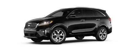 Ebony Black 2020 Kia Sorento exterior front fascia driver side