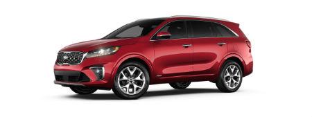 Passion Red 2020 Kia Sorento exterior front fascia driver side