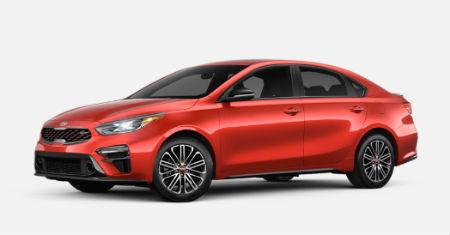 Fire Orange 2020 Kia Forte exterior front fascia driver side