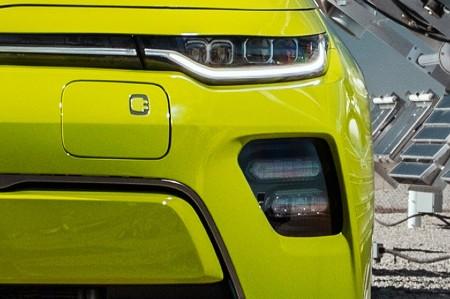2021 Kia Soul EV exterior close up of driver side headlight