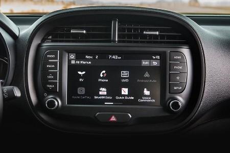 2021 Kia Soul EV interior close up of display screen