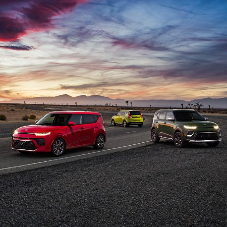 2020 Kia Soul models exterior front fascias driver and passenger side exterior rear fascia and driver side