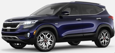Dark Ocean Blue  2020 Kia Seltos exterior front fascia driver side