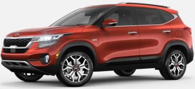 Mars Orange  2020 Kia Seltos exterior front fascia driver side