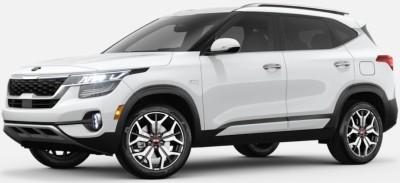Snow White Pearl  2020 Kia Seltos exterior front fascia driver side