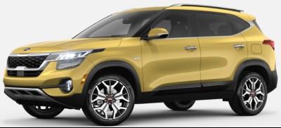 Starbright Yellow  2020 Kia Seltos exterior front fascia driver side