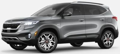 Steel Gray  2020 Kia Seltos exterior front fascia driver side