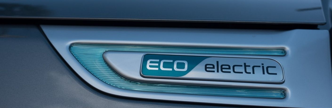 Close up of Eco Fuel decal on Kia vehicle