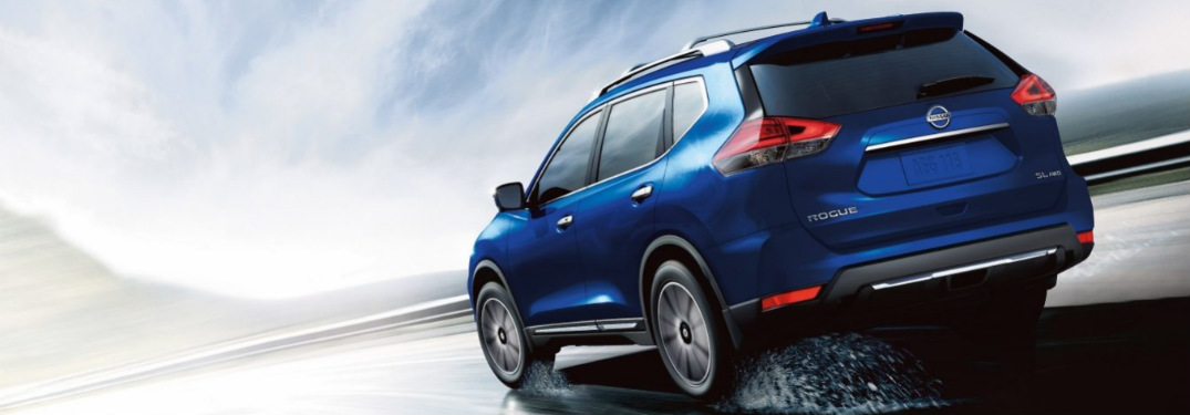 2018 Nissan Rogue driving fast down road