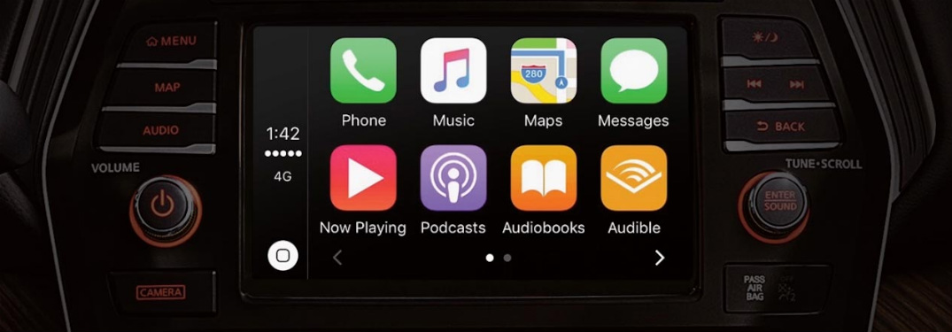 Apps displayed on NissanConnect screen