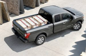 2018 Nissan TITAN with full payload of boxes