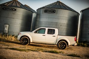 2019 Nissan Frontier at a farm
