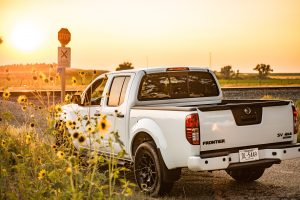 2019 Nissan Frontier rear end view by sunflowers