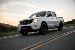 2019 Nissan Frontier driving on a road