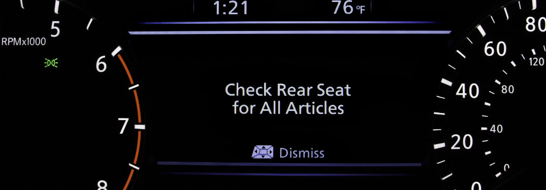 Never forget with the Nissan Rear Door Alert system