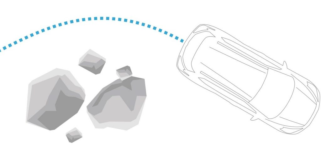 2018 Nissan Kicks diagram showing Vehicle Dynamic Control and Traction Control System