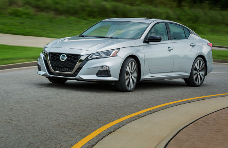 2019 Nissan Altima driving on a road
