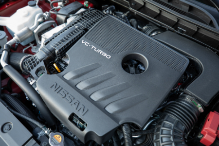 vc-turbo engine inside 2019 nissan altima