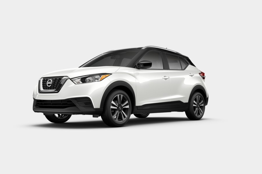 2019 Nissan Kicks Aspen White Tricoat Super Black