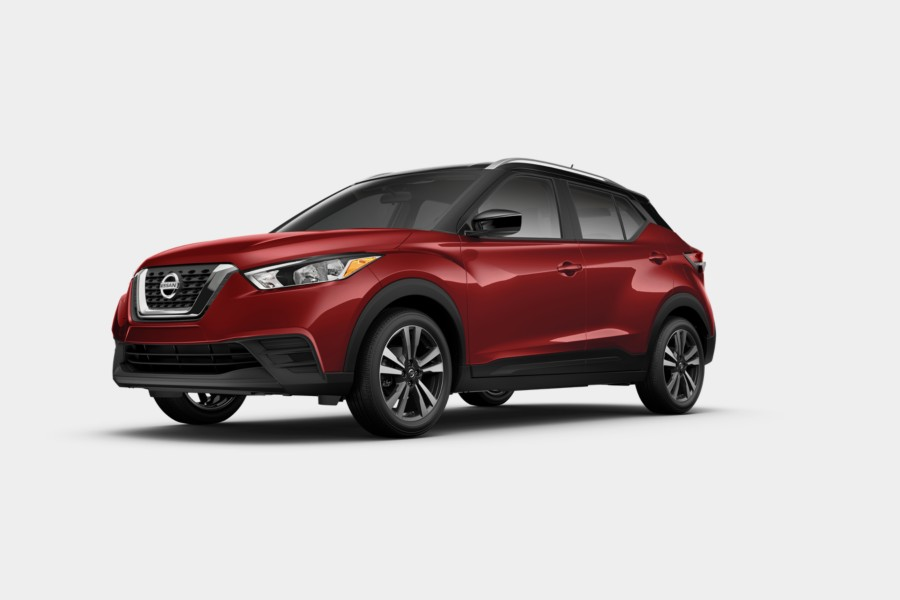 2019 Nissan Kicks Cayenne Red Metallic Super Black