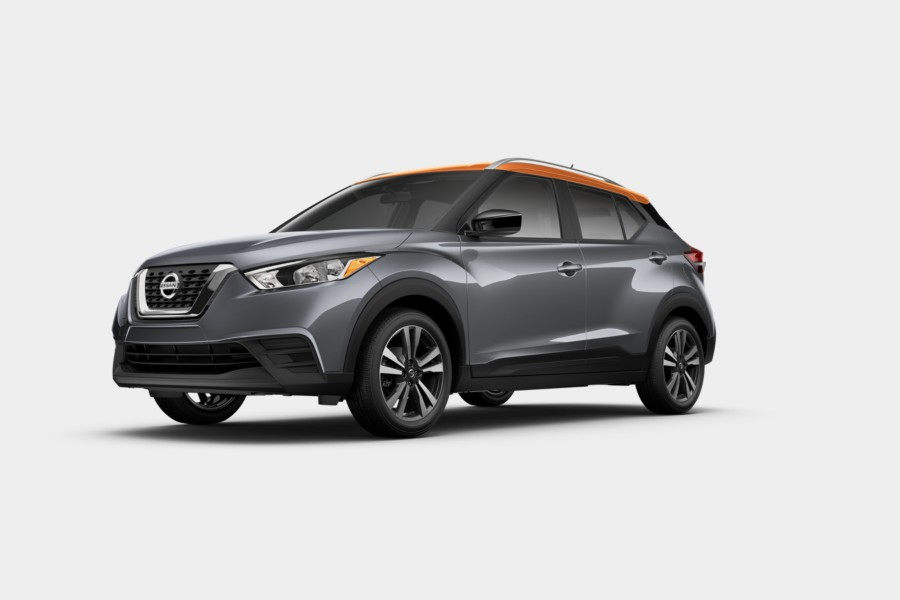 2019 Nissan Kicks Gun Metallic Monarch Orange Metallic