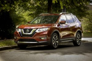 2019 Nissan Rogue parked near some trees