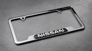 2019 Nissan Frontier accessory - Nissan chrome license plate frame