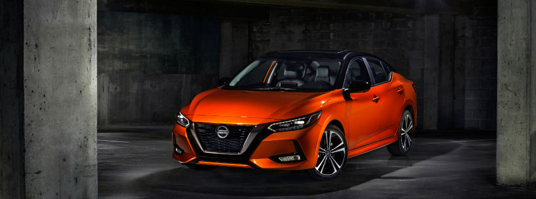 A front left profile photo of the 2020 Nissan Sentra.