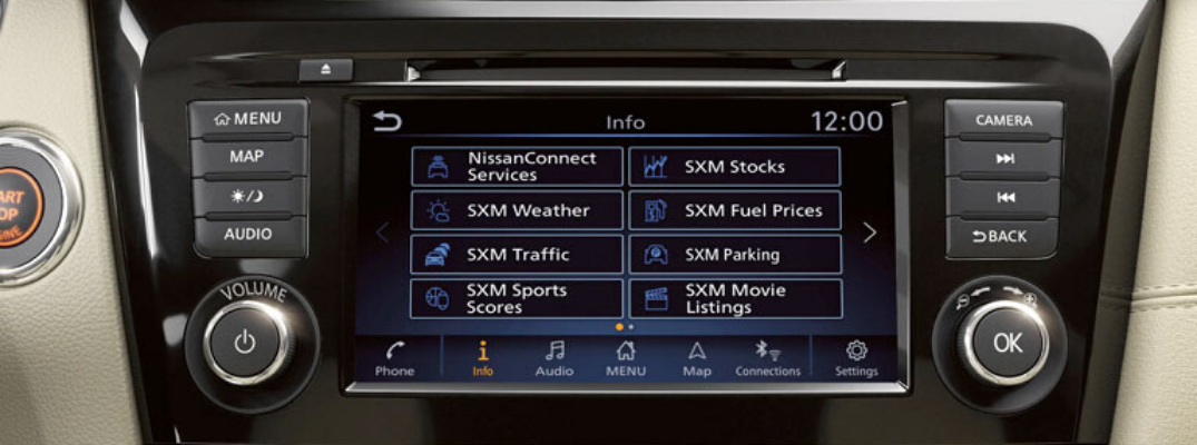 2020 Nissan Rogue touchscreen with NissanConnect℠